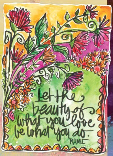 From Joanne Sharpe's The Art of Whimsical Lettering for #artjournal inspiration and lettering ideas, featured at ClothPaperScissors.com.