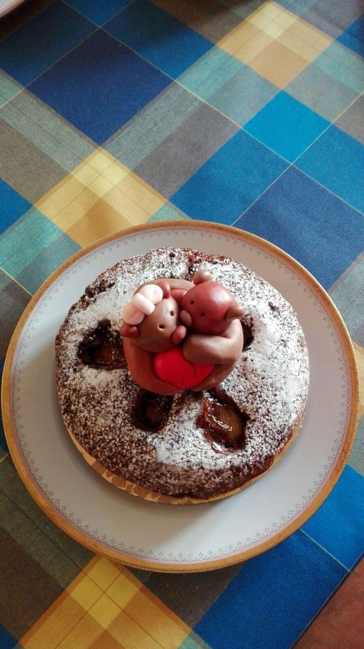 torta al cioccolato con le pere per gli sposi in luna di miele - chef  Jolanda Grillo Parlante Guglionesi CB Molise