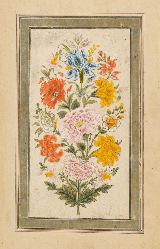 Floral Bouque t- India, Mughal empire, 1700-1750