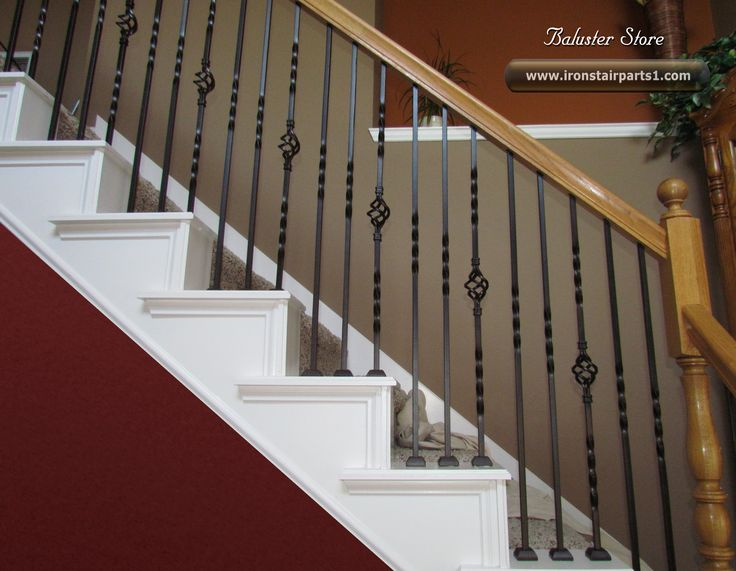 high quality powder coated iron stair parts wrought iron