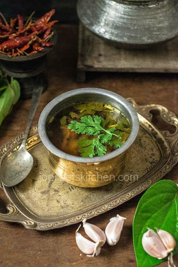Betel Leaves Soup / Vetrilai Poondu Rasam