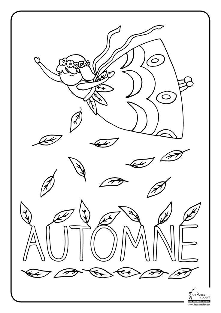 Coloriage de l 39 automne a t l charger et imprimer - L automne dessin ...