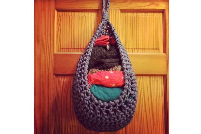19 Hanging Storage Hacks to Get Your Home Super Organized: Crochet Storage Solution