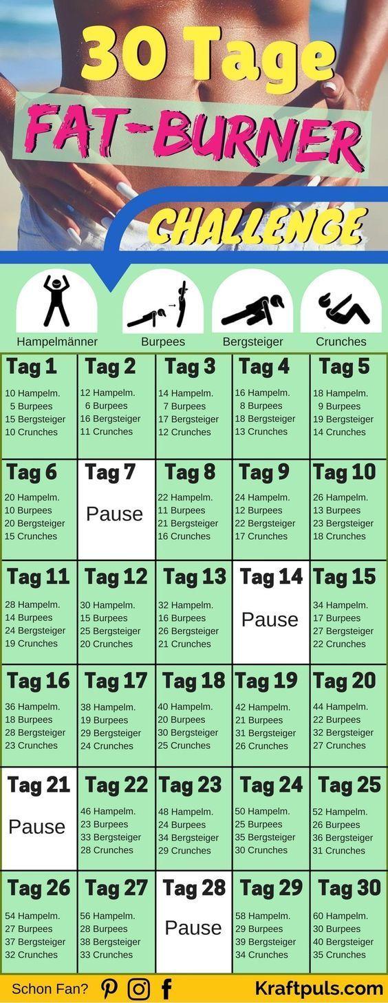 Die ULTIMATIVE Fitness-Challenge des Jahres! ✓ Deine Fettpolster schmelzen mit diesen Übungen nur so dahin ✓ #abnehmen #fitness via @kraftpuls