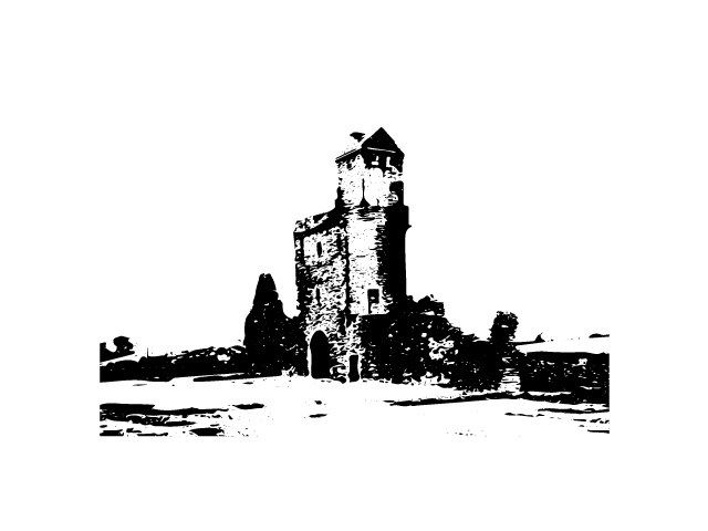 Castel Ruin Vector Illustration by www.fineart-work.com