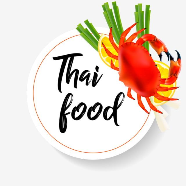 Thai Food Realistic Crab With Lemon And Lemongrass Thai Food Realistic Shrimp Png And Vector With Transparent Background For Free Download Thai Recipes Lemon Grass Spring Flowers Background