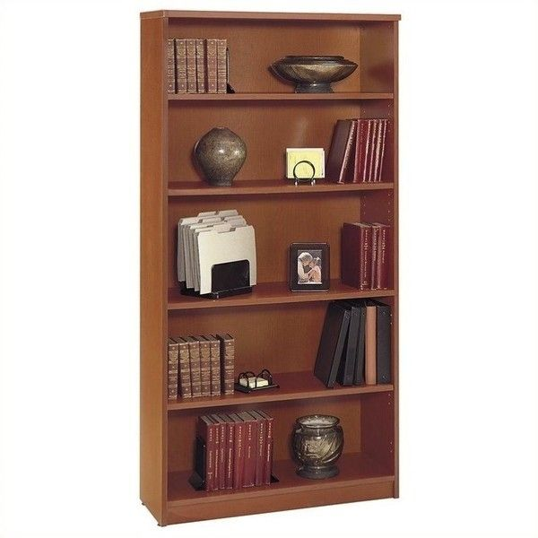Bush Business Furniture Series C 36W 5-Shelf Bookcase ($167) ❤ liked on Polyvore featuring home, furniture, storage & shelves, bookcases, maple, 5 shelf bookcase, 2 shelf bookcase, adjustable shelving, adjustable shelves and adjustable shelf bookcase