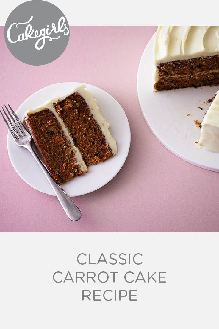 Classic Carrot Cake with Orange Cream Cheese Icing | Cakegirls Recipes
