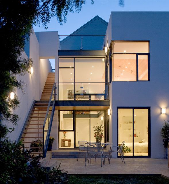 9 best bench lighting images on pinterest bench for Modern townhouse exterior