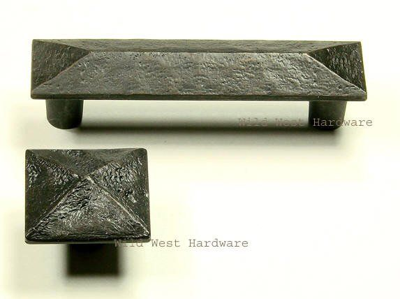 """Oil Rubbed Bronze finish Distressed rustic look 7/8"""" x 3 3/4"""" 3"""" center to center screw holes Protrudes 1"""""""
