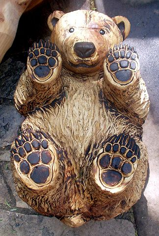 CHAINSAW ArtPine Bears, Bears Cubs, Carvings Bears, Art, Animal Wood Carvings, Bears Feet, Bears Tables, Bear Cubs, Chainsaw