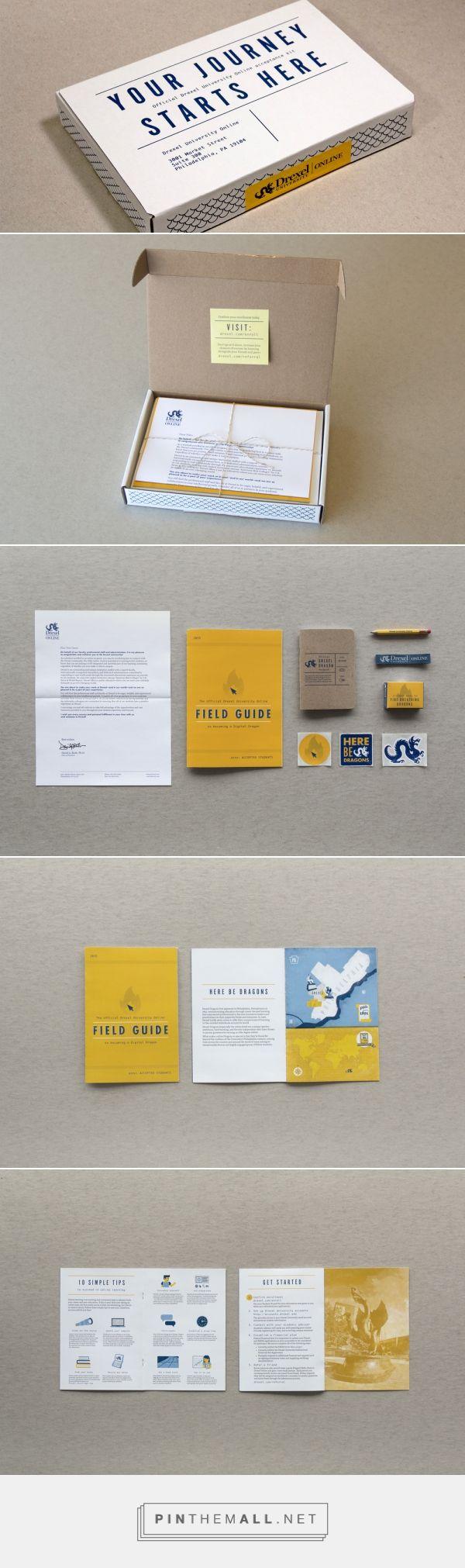 Drexel University Online Accepted Students Kit — The Dieline - Branding & Packaging Design - created via https://pinthemall.net