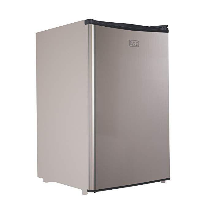 Black Decker Bcrk43v Compact Refrigerator Energy Star Single Door Mini Fridge With Freezer 4 3 Cubic Ft Vcm Review Mini Fridge With Freezer Compact Refrigerator Mini Fridge