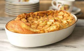 Clafoutis aux pommes et à la cannelle léger
