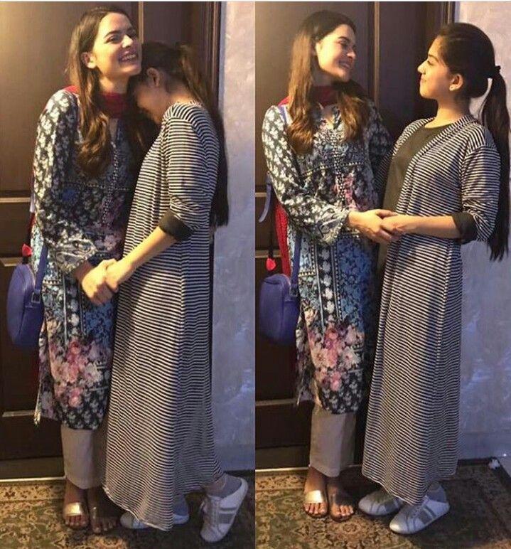 Arisha Razi with Minal Khan ♥ #Beautiful #Cute #Picturess