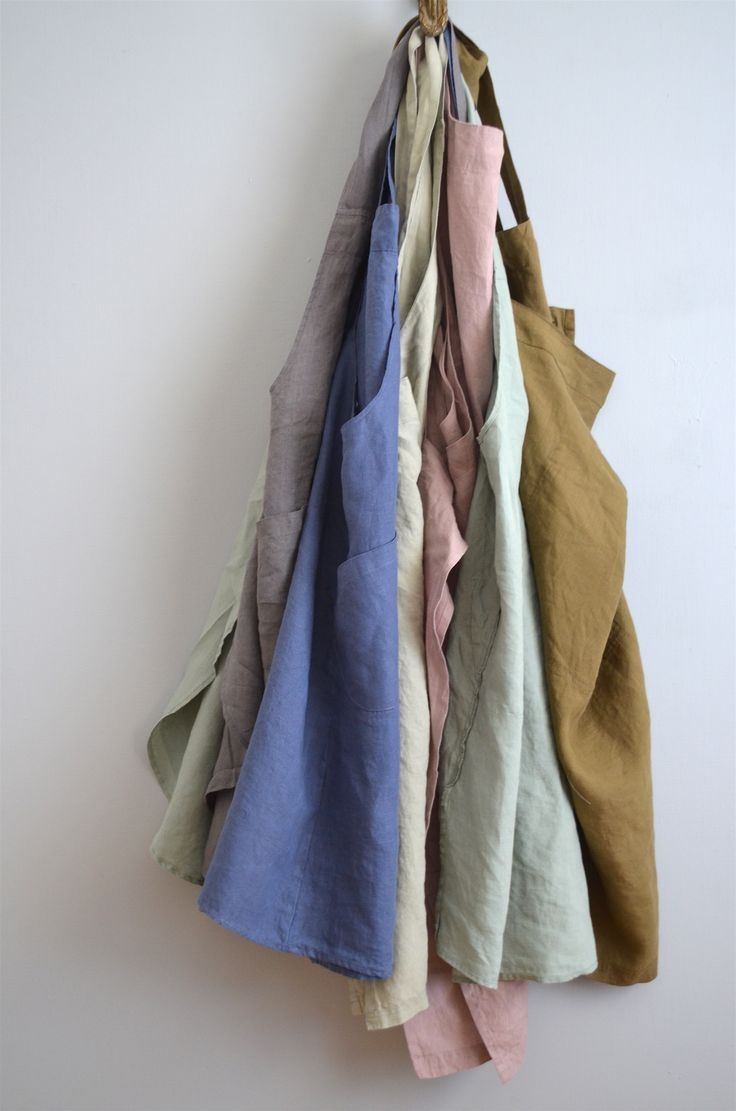 French stonewashed linen aprons