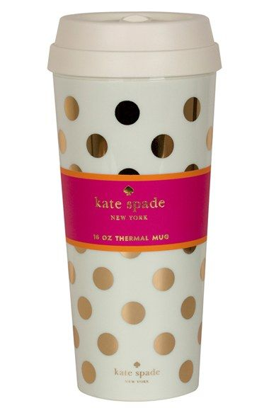 kate spade new york dot thermal travel mug available at #Nordstrom