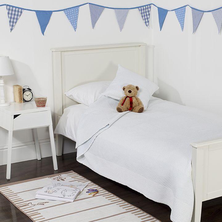 Couvre-lit matelassé rayé pour enfant