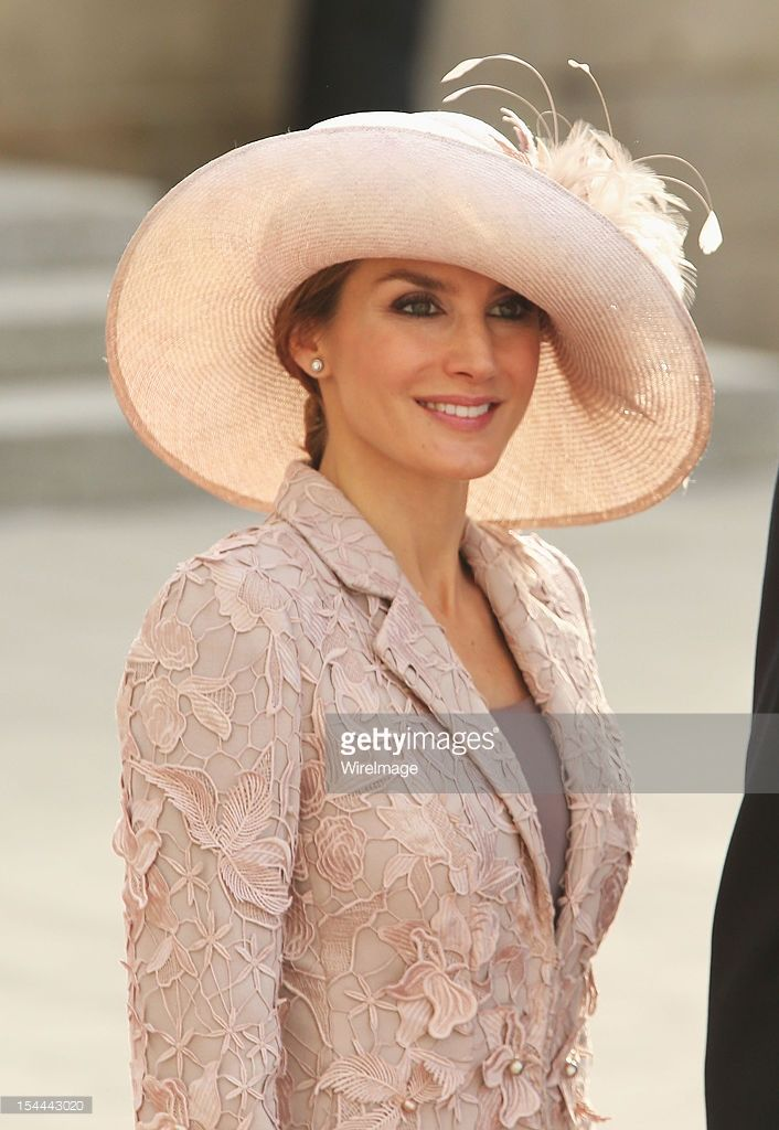 Princess Letizia of Spain attends the wedding ceremony of Prince Guillaume Of Luxembourg and Princess Stephanie of Luxembourg at the Cathedral of our Lady of Luxembourg on October 20, 2012 in Luxembourg, Luxembourg.
