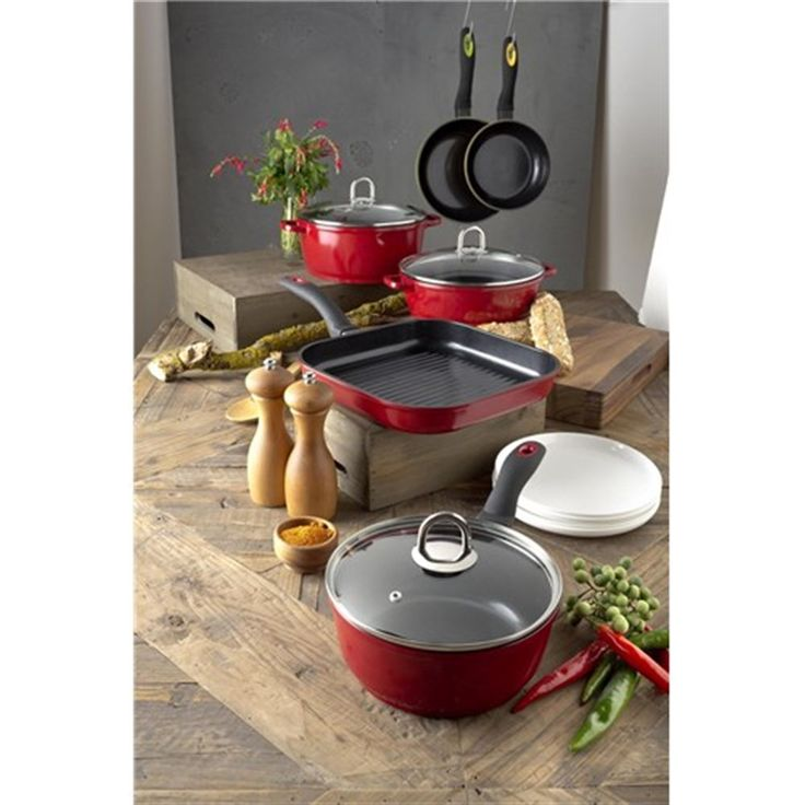 Baccarat Bio+ Twin Pack 20cm and 26cm Red Frypans | Frypans