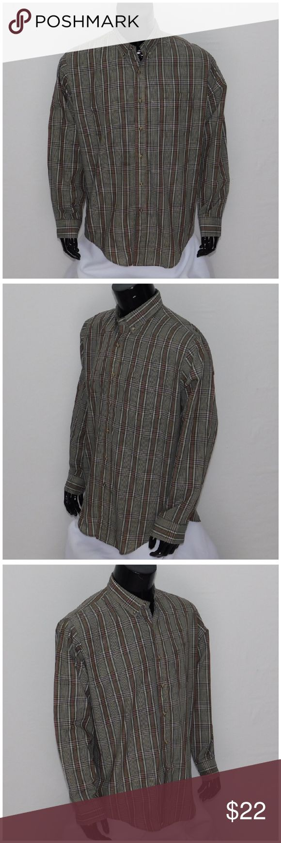 """Offers of 40% Less on BUNDLES Always Accepted! *MEN* MCGREGOR Classic, size Large See Measurements, button collar, double button adjustable cuffs, light weight, machine washable, 65% cotton, 35% polyester, approximate measurements: 28 - 32"""" length, 24"""" chest laying flat, 19"""" shoulder width, 25"""" sleeves. ADD to a BUNDLE! Offers of 40% Less on BUNDLES Always Accepted! McGregor Shirts Dress Shirts"""