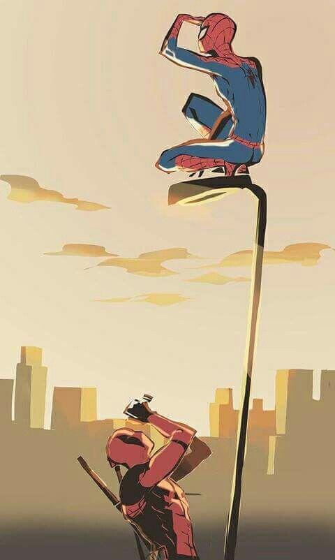 Spiderman x Deadpool #Spideypool                                                                                                                                                                                 Plus