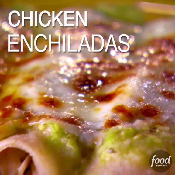 The star of Marcela's chicken enchiladas may well be her fresh salsa verde. We will let you decide!