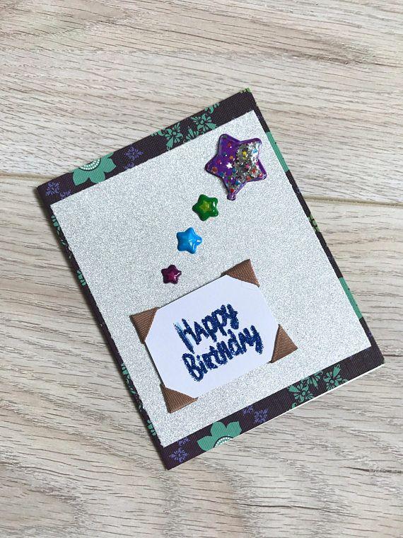 Handmade Card // Happy Birthday // Stars // Silver