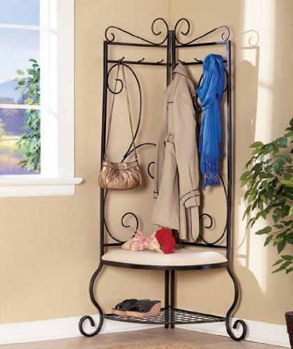 Corner Entry Bench With Cushioned Seat By Lco Home