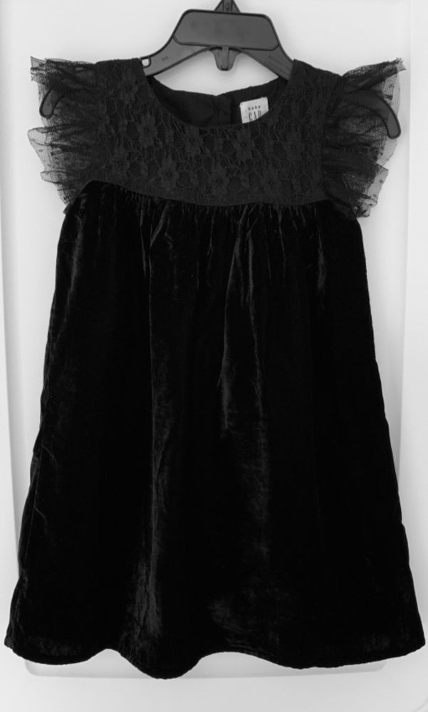 Baby Gap Black Yoke Velvet Flutter Holiday Dress 3t Excellent Condition Fashion Clothing Shoes Accessories Babytoddlerclothing Sclothingnewborn5t