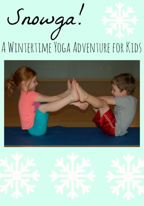 Snow Yoga. Back to back breathing and the snowman slide... many different poses for children to try with a snow winterized theme. Looks fun!
