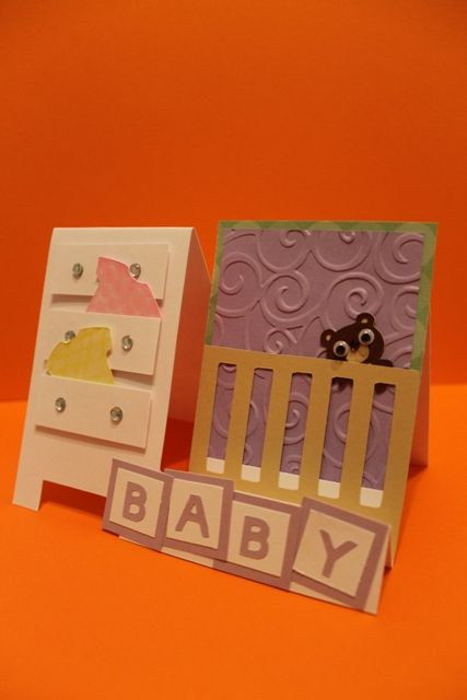 Paper Art Princess: Side-step Baby card