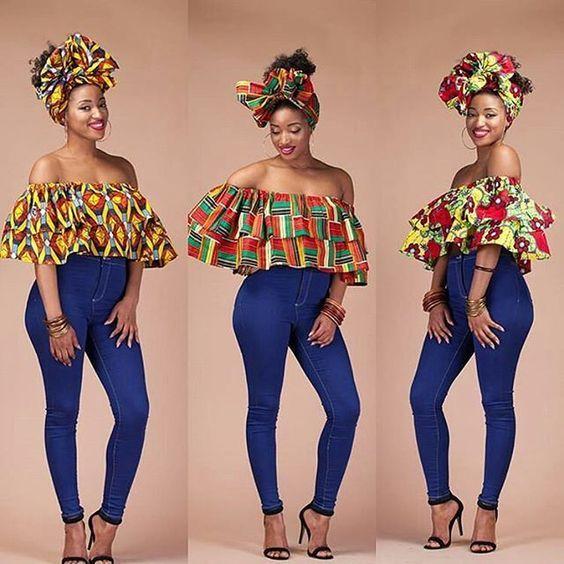 La Blackeuse a voulu partager avec vous ces magnifiques tops en pagne africain! Vous pouvez les porter soit avec un pantalon ou une jupe!    1.          2.          3.          4.          5.       6.    7.       Souce: pinterest.com