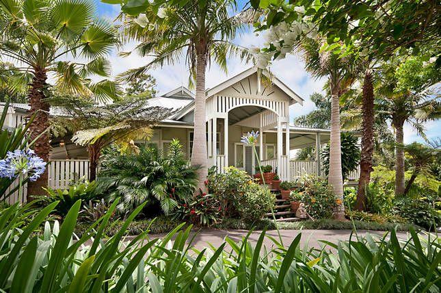 Verandah House front entrance. Byron Bay