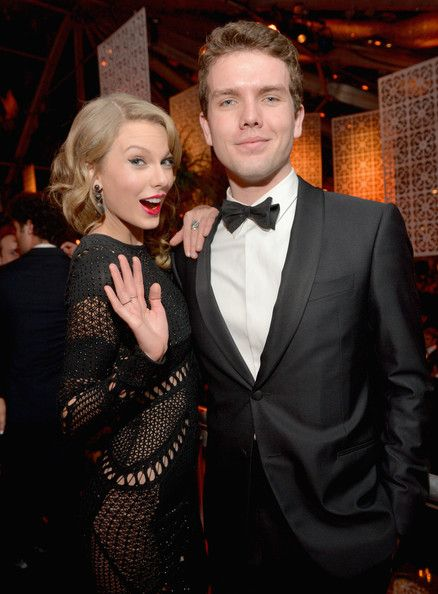 Taylor Swift and her brother Austin - The Weinstein Company & Netflix's 2014 Golden Globes After Party Presented By Bombardier, FIJI Water, Lexus, Laura Mercier, M...