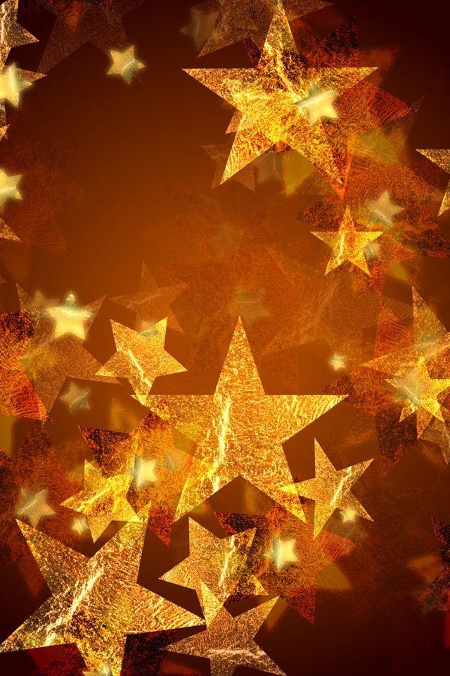 Amber star lights