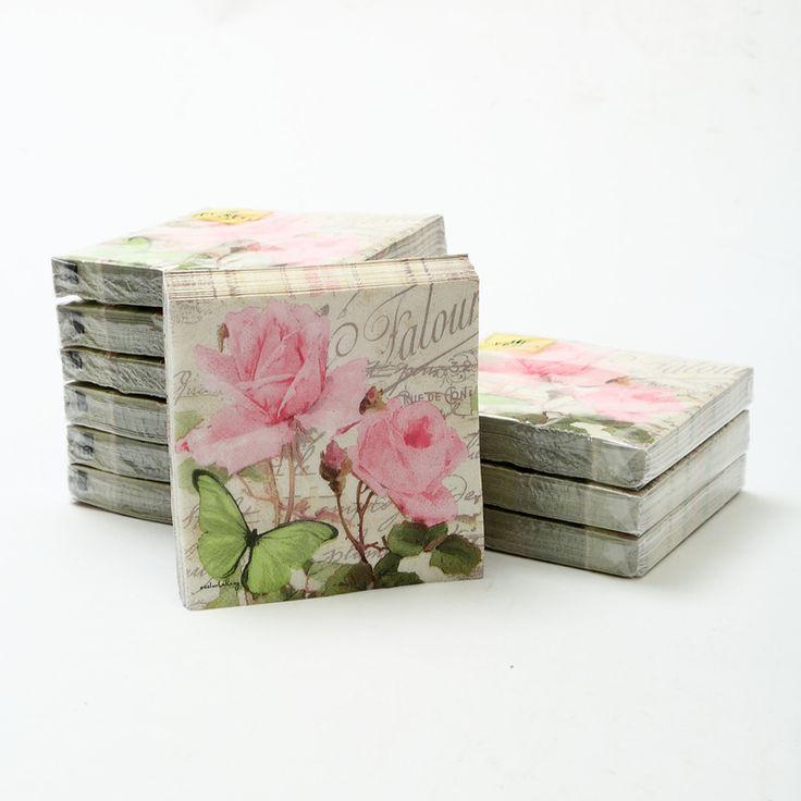 Купить товарКоктейль бумаги napkins 20pcs 25x25 см 3 слойная розовый цветок бумажные салфетки для свадьбы бумажные салфетки для декупажа napkin 4NC5233B в категории Салфеткина AliExpress.        Бумажные салфетки-идеально подходит для Декупаж или ремесло                    Описание: