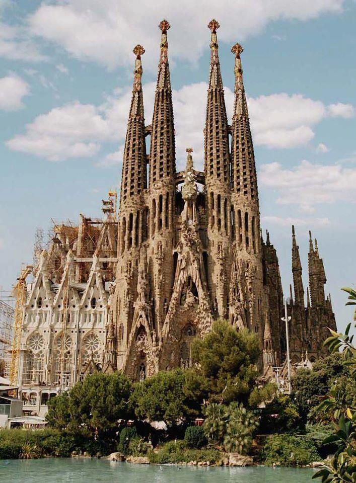 La Sagrada Familia Cathedral, Barcelona, Spain This picture does it no justice. Seeing it in person was breathtaking beyond comparison.