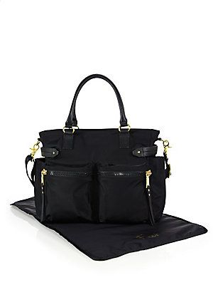 Rebecca Minkoff Zoe Leather Trim Diaper Bag - Black