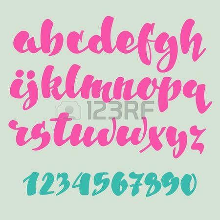 Populaire Les 25 meilleures idées de la catégorie Alphabet en calligraphie  HW77