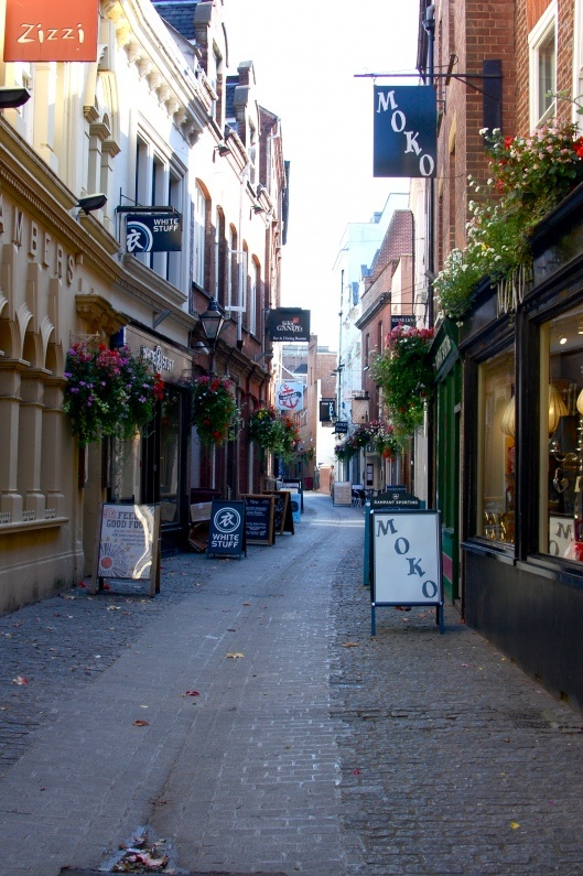 Gandy Street, Exeter, Devon. Did you know this was the inspiration for J K Rowling's Diagon Alley?