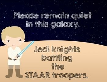 Making STAAR testing fun! STAAR WARS TESTING SIGNS - TeachersPayTeachers.com
