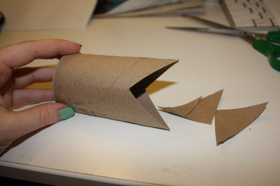 Toilet Paper Roll Crafts For Kids Shark
