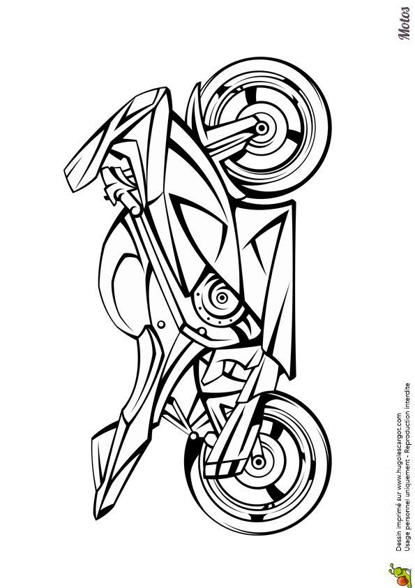 coloriages de motos et kartings