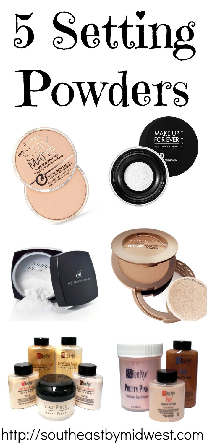 I have some trouble trying to find good setting powders... These all seem like good ones.