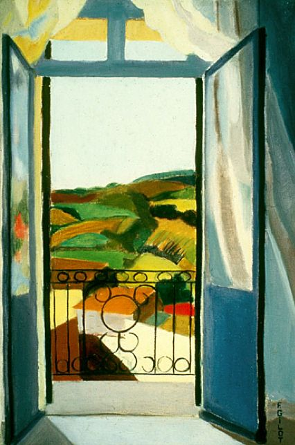 ✯ French Window in Blue ..1939.. Artist Francoise Gilot ✯
