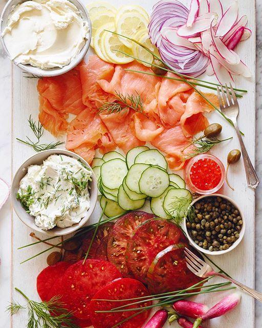 Smoked Salmon Platter via @feedfeed on https://thefeedfeed.com/whatsgabycookin/smoked-salmon-platter