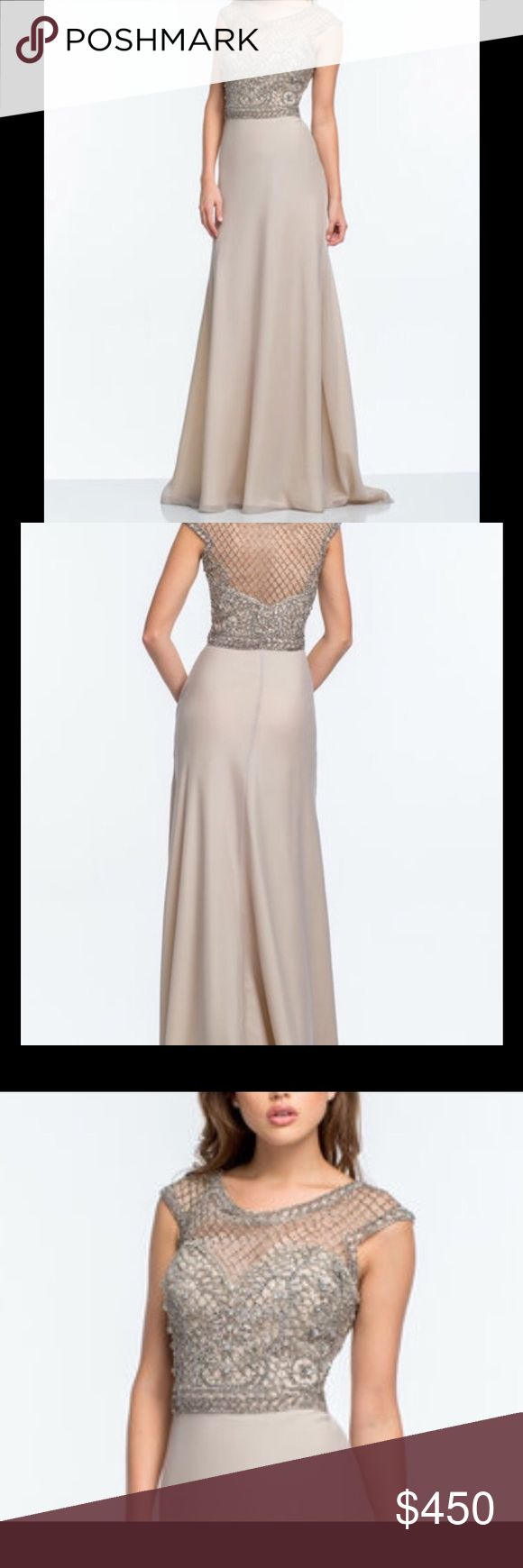 "NWT Terani Couture Embellished Gown Formal Dress Terani Couture   From the moment you step through the door ensure all eyes are on you with the dynamic curve-defining fit of this special occasion look.  60"" Long from high point of shoulder to hem. 7"" tail 100% Polyester  Dry Clean SZ. 14 Retail. $682.00 Brand new with tags. Terani Couture Dresses Wedding"