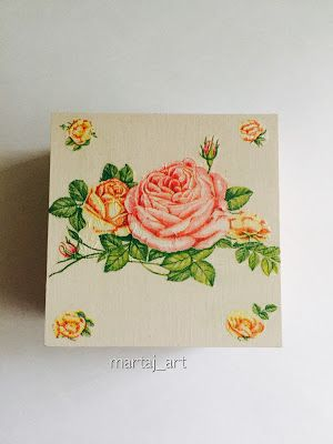 martaj_art: Pudełko w delikatne róże