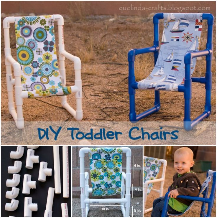 Diy Toddler Chair | These DIY Toddler Chairs are button cute and they're a cinch to make ...